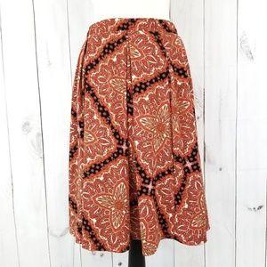 LuLaRoe Madison Pleated Fall Colors Skirt